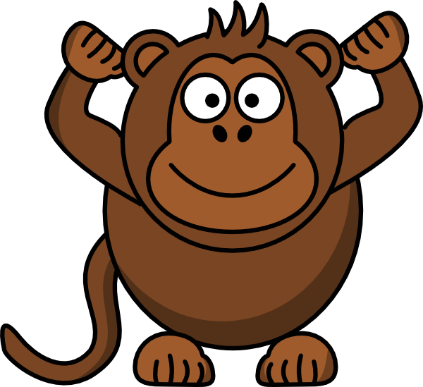 600x549 Top 10 Monkey clip art images and cute pictures for You
