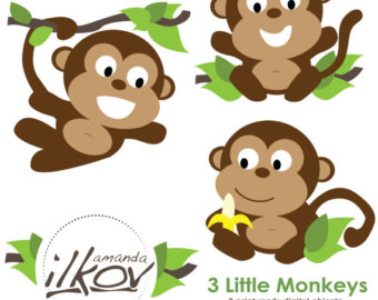 340x270 Year Of The Monkey clipart baby monkey