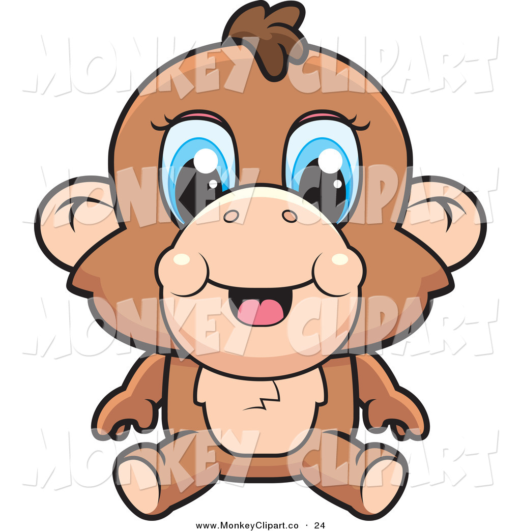 1024x1044 Baby Monkey With Banana Clip Art Clipart Panda