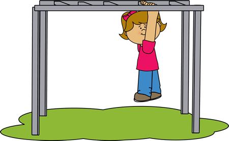 450x278 Girl On The Monkey Bars Clip Art