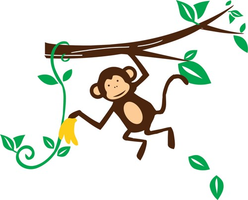 500x405 Image of baby monkey clipart 4 hanging clip art