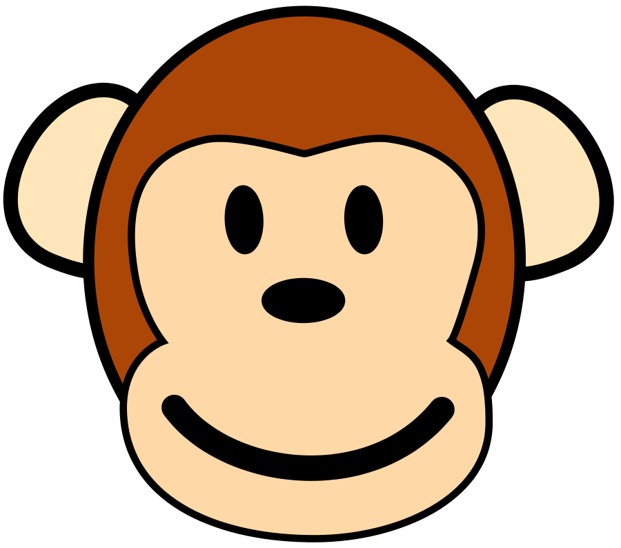 900x794 Monkey clip art black and white free clipart images 4