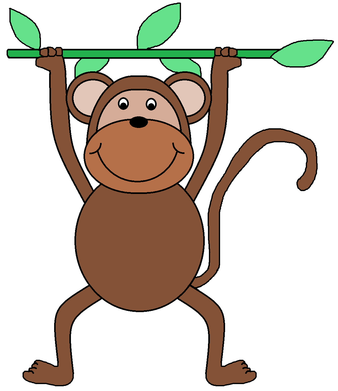 1081x1250 Monkey Clip Art For Teachers Free Clipart Images 4