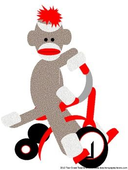 263x350 Sock Monkey Clipart