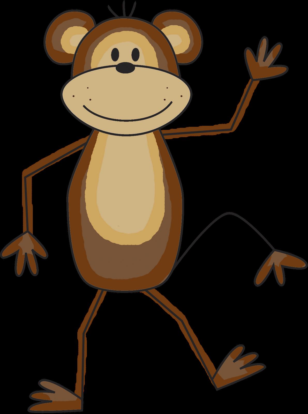 1191x1600 Cute Monkey Clipart Free