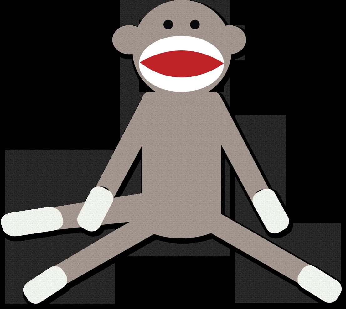 1105x986 Free Sock Monkey Clipart