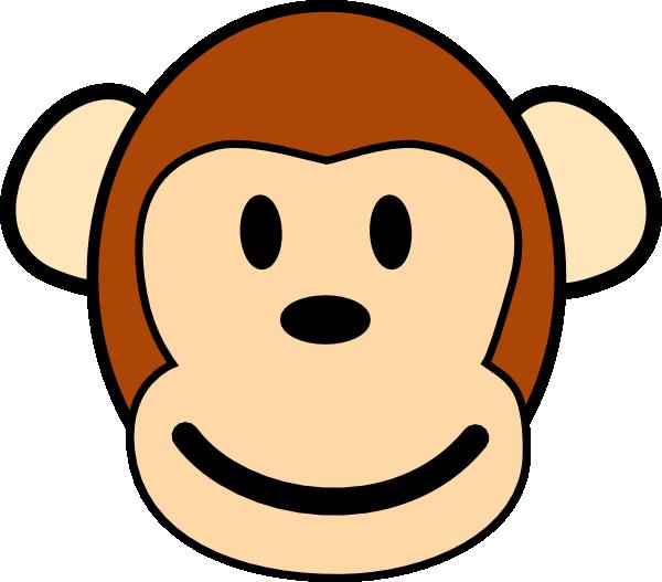 600x527 Happy Monkey Clip Art Free Vector 4vector