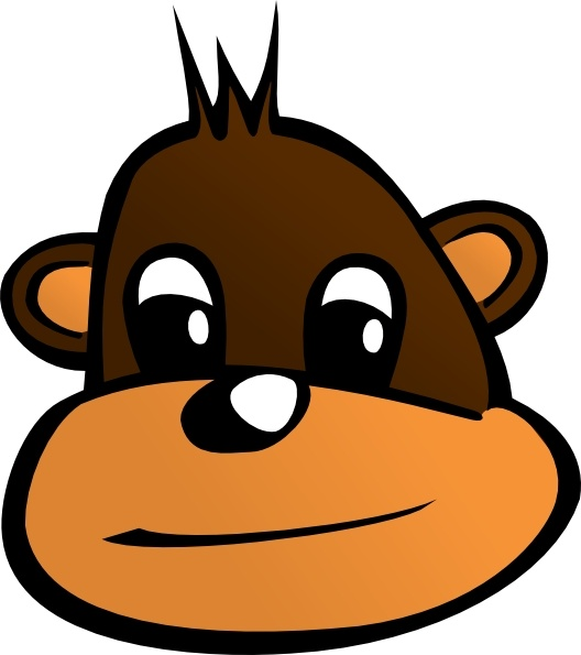 528x595 Monkey Head Clip Art Free Vector In Open Office Drawing Svg ( Svg