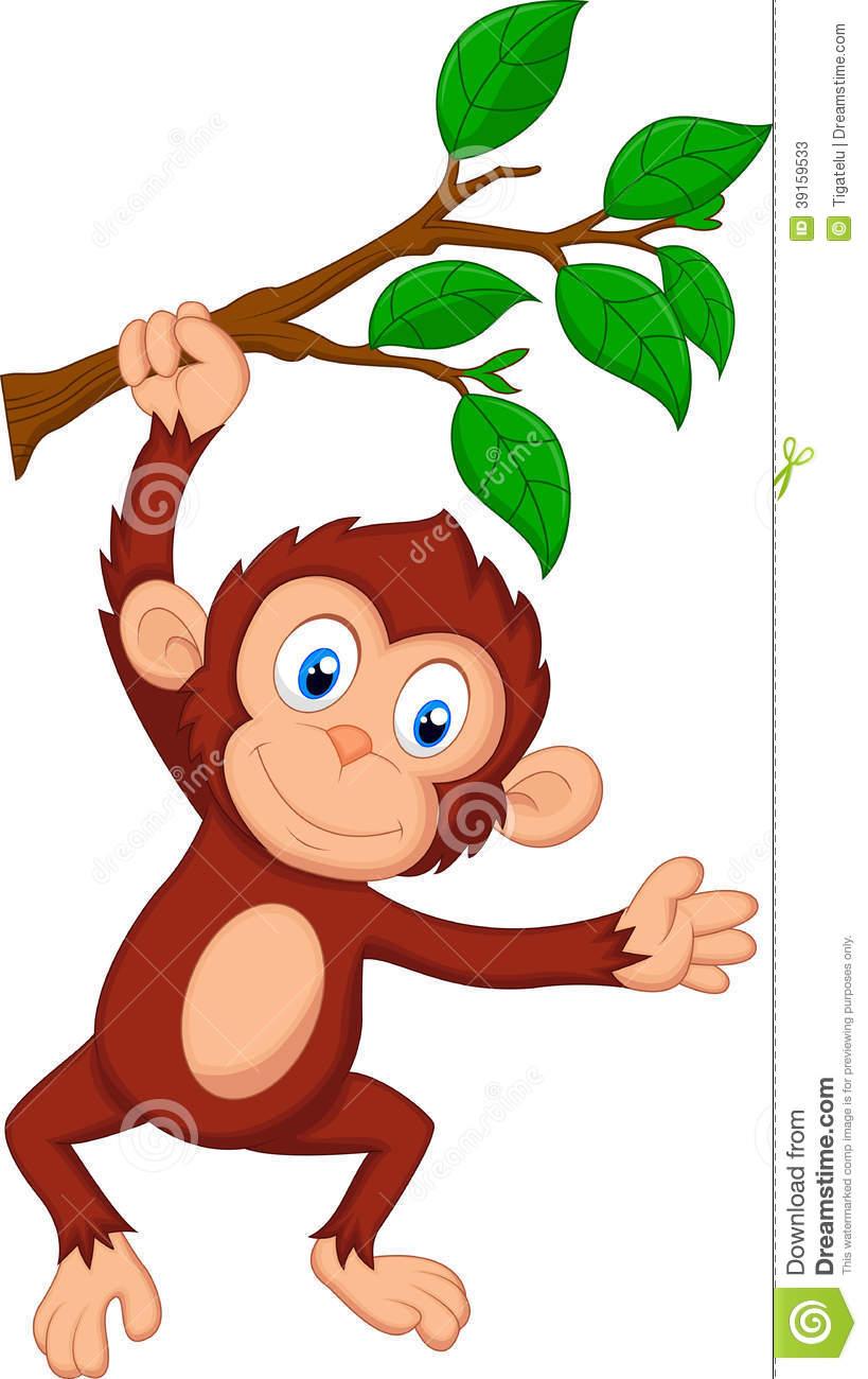 819x1300 Hanging Baby Monkey Clip Art Clipart Panda