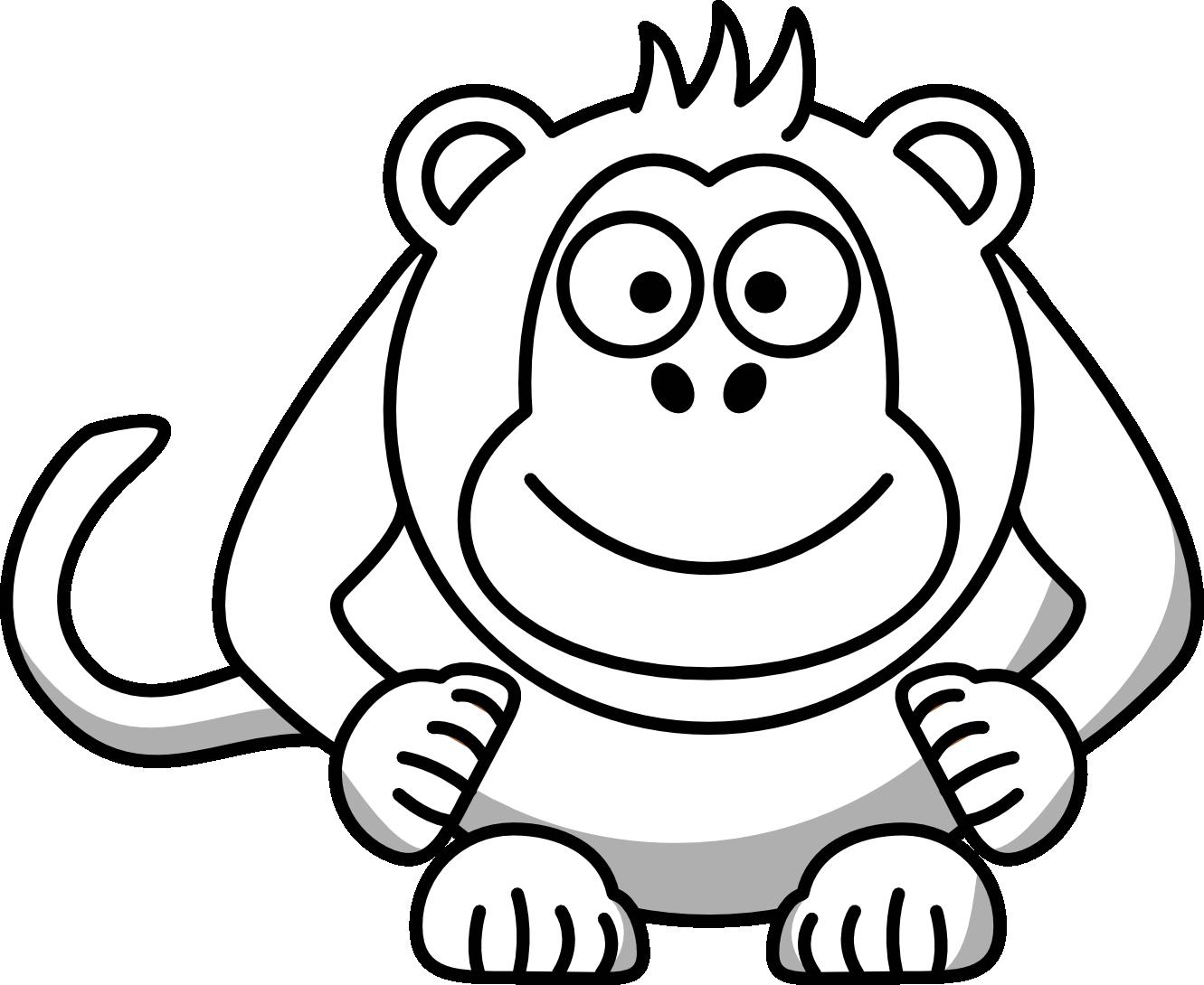1331x1090 Monkey clip art cute monkeyloring pages cartoon monkey