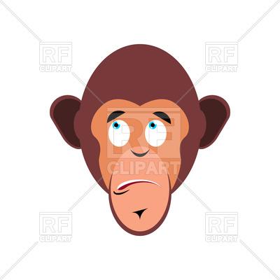 400x400 Monkey Surprised Emoji Royalty Free Vector Clip Art Image