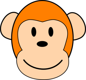 299x279 Orange Monkey Clip Art
