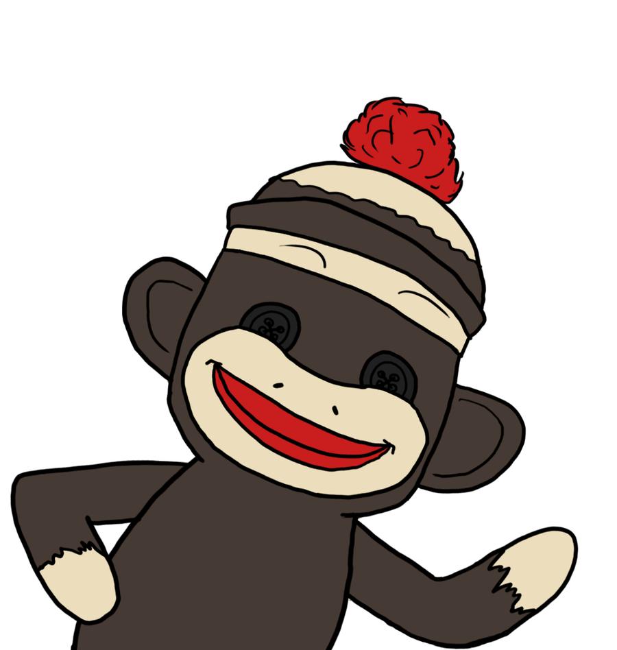 900x948 Sock Monkey Clipart