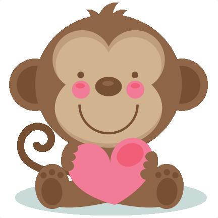 432x432 Valentine Monkey Clip Art