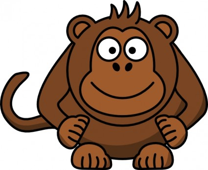 425x347 Cartoon monkey clip art free vector for free download about image