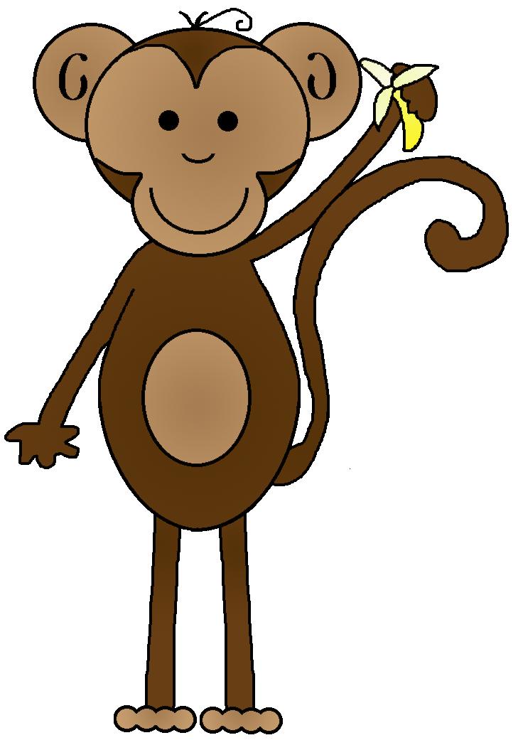 736x1048 Clip Art Monkey