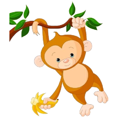 400x400 Clip Art Monkeys