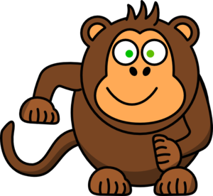 300x276 Free Monkey Clipart Clip Art Pictures Graphics Illustrations 2