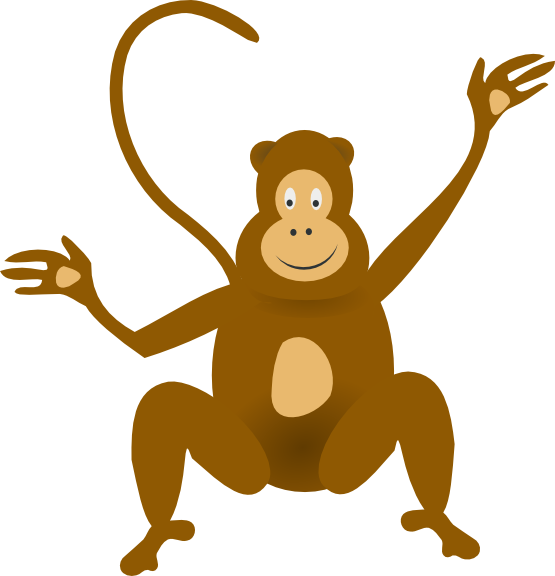 555x576 Funny Monkey Clip Art
