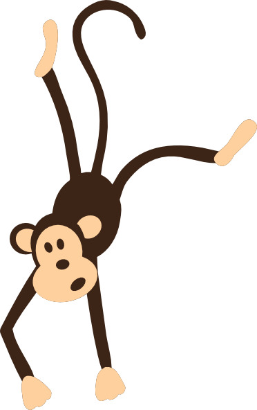 372x592 Hanging Monkey Clip Art