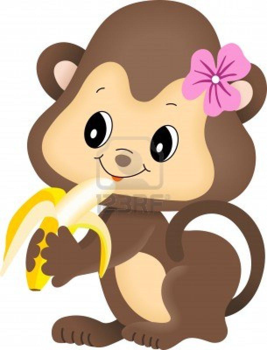 915x1200 Monkey Girl Clipart