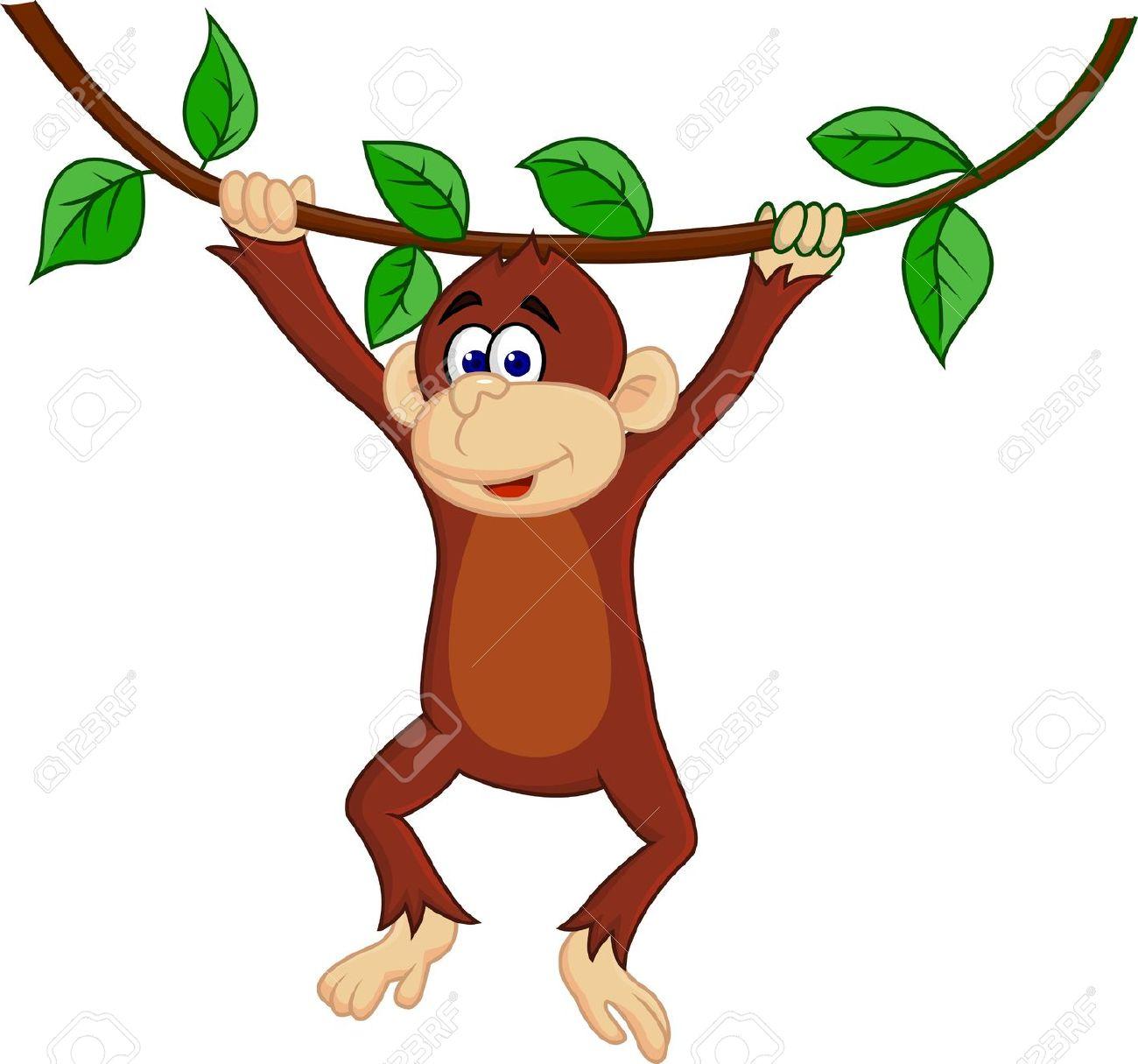 1300x1215 Monkey banana clip art image