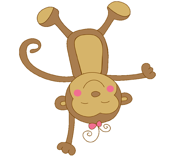 600x512 Animal Clipart Baby Monkey