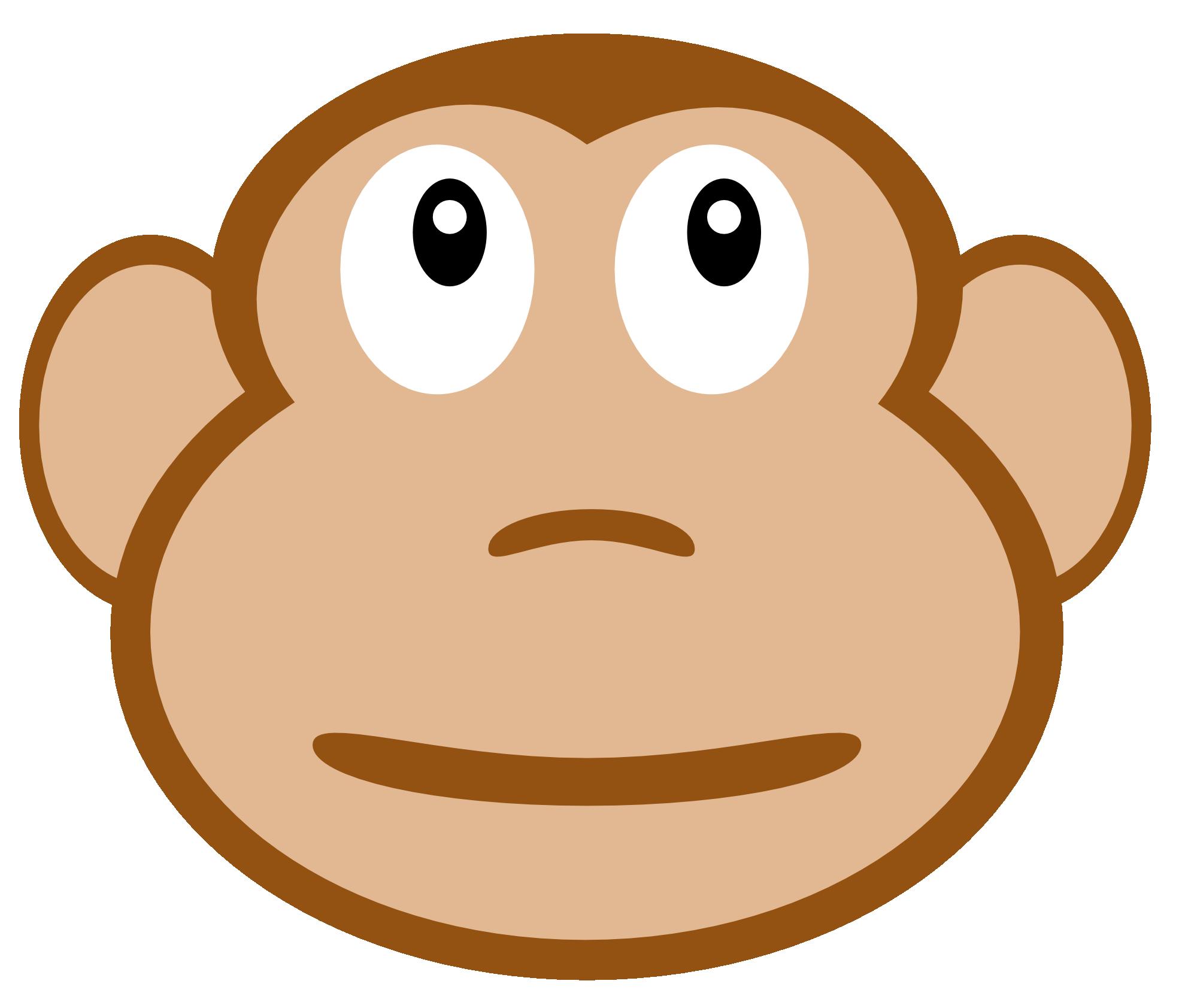 1969x1683 Monkey face clip art clipartfest