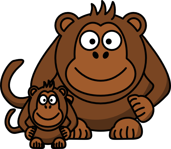 600x523 Cartoon Monkey Clip Art Clip Art