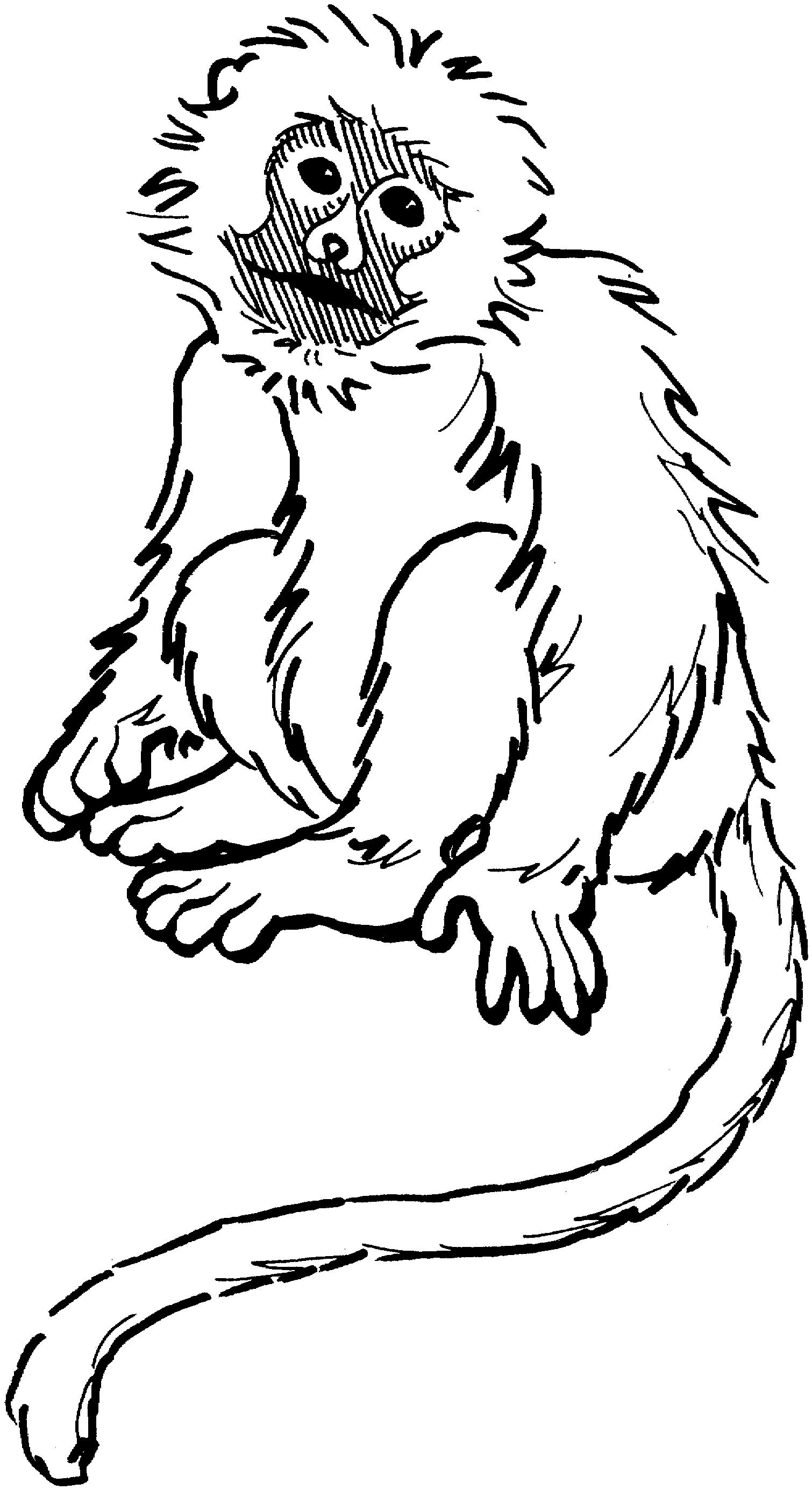 1510x2771 Coloring Pages Kids Monkey Coloring Pages To Print Banana