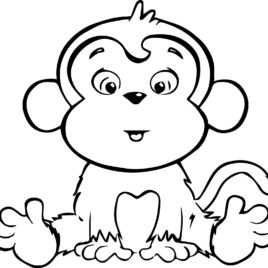 268x268 Adult Baby Monkey Coloring Pages Coloring Pages Of Baby Monkey