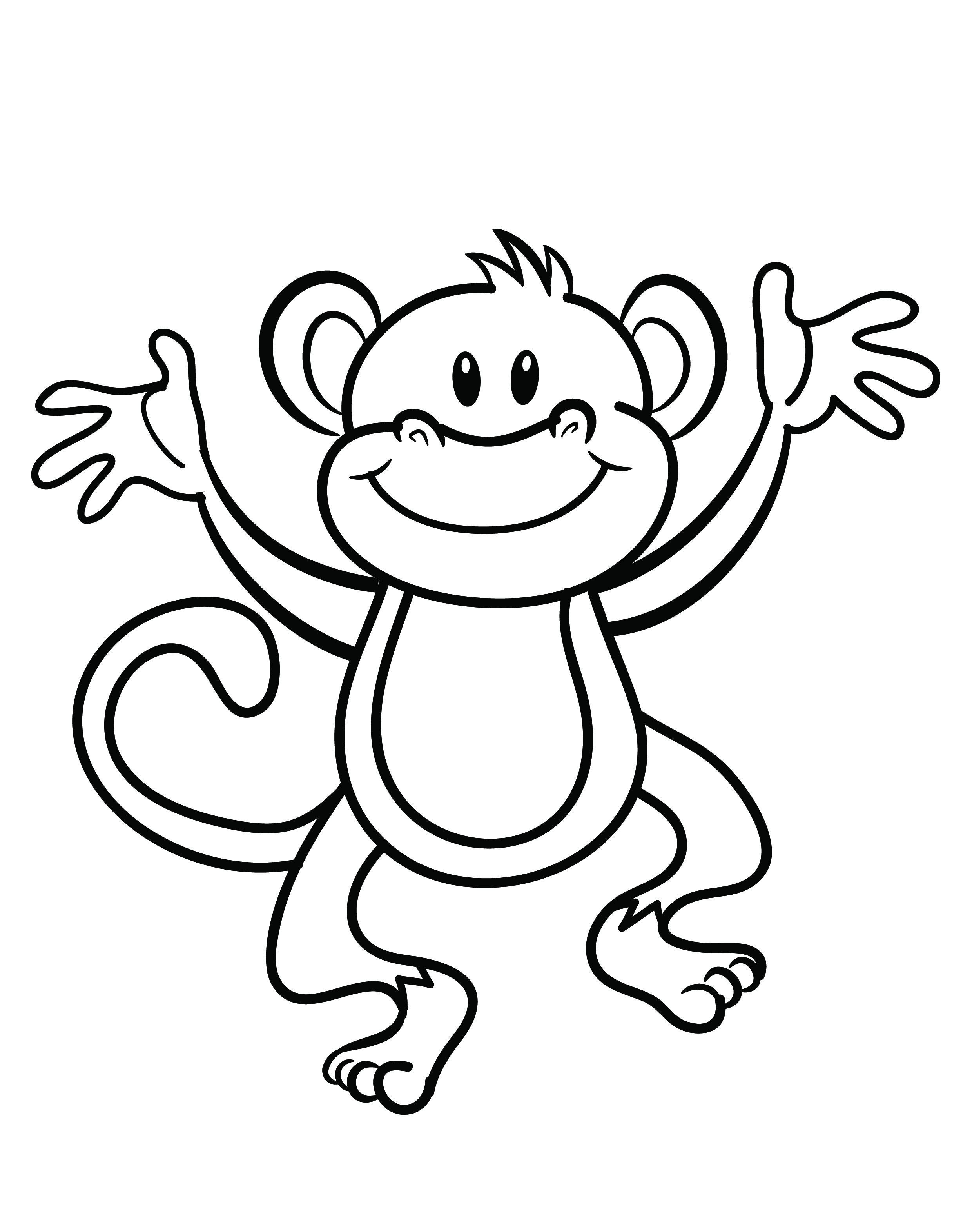 2480x3141 Free Printable Monkey Coloring Page Cj 1st Birthday