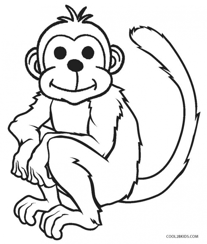 817x960 Get This Monkey Coloring Pages For Kids 70416 !