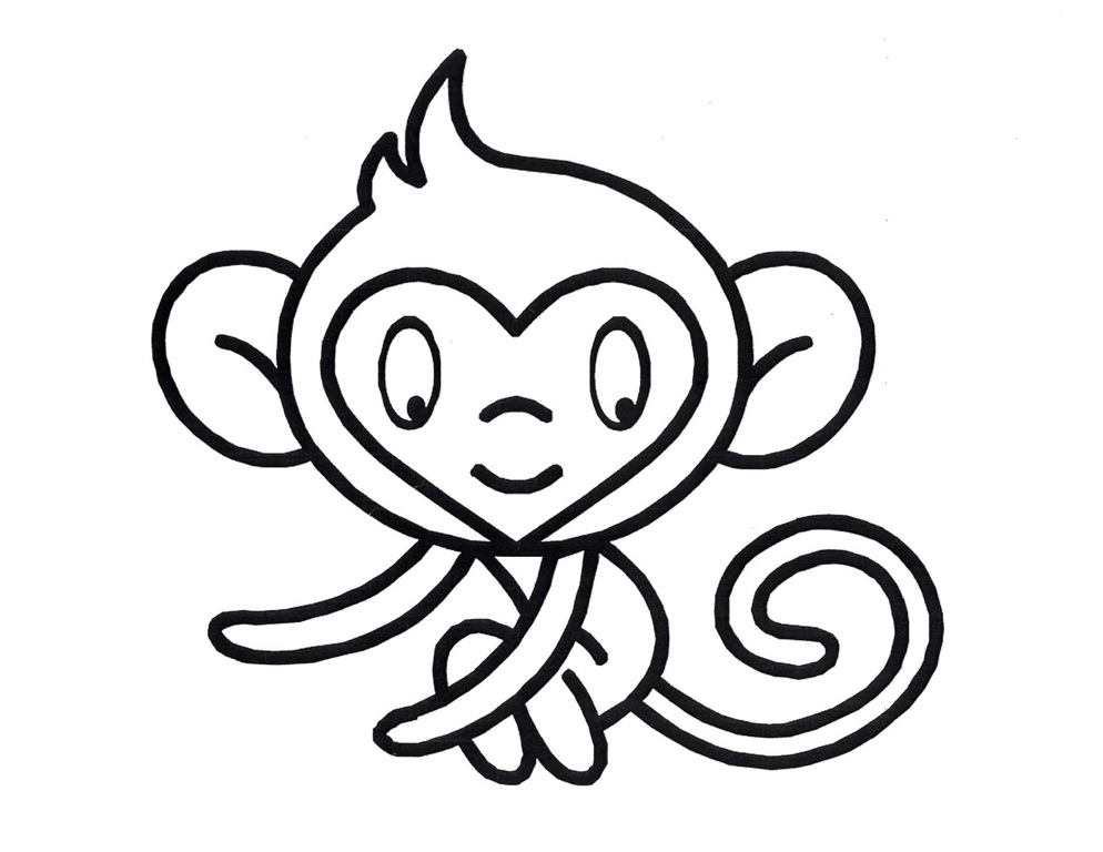 994x768 Monkey Coloring Page Fitfru Style Printable Monkey Coloring