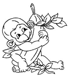 236x266 All Types Of Coloring Pages These Monkey Coloring Pages Were