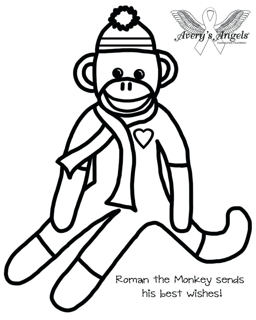878x1098 Monkey Coloring Pages 97 Awesome Printable Free Printable Sock