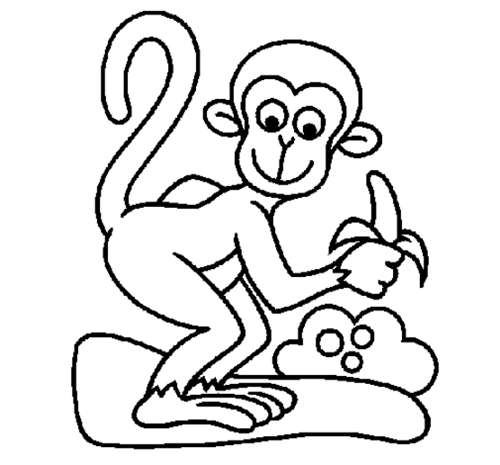 556x517 monkey coloring pages monkey coloring page