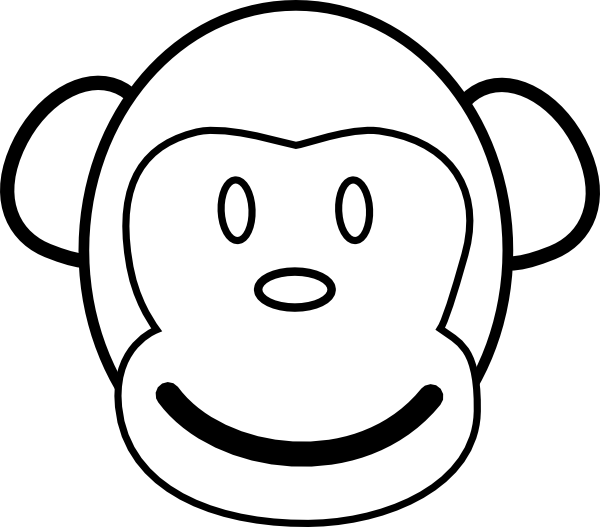 600x527 Monkey Coloring Pages Monkey Coloring Page