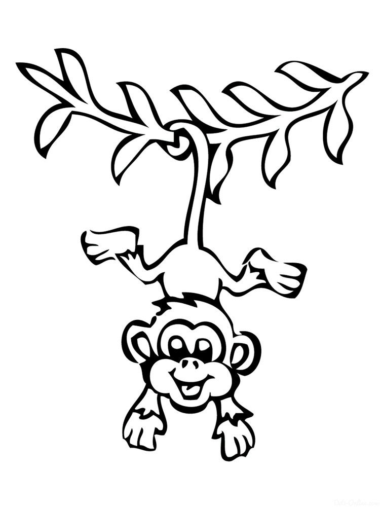 750x1000 Monkey Coloring Pages. Download And Print Monkey Coloring Pages