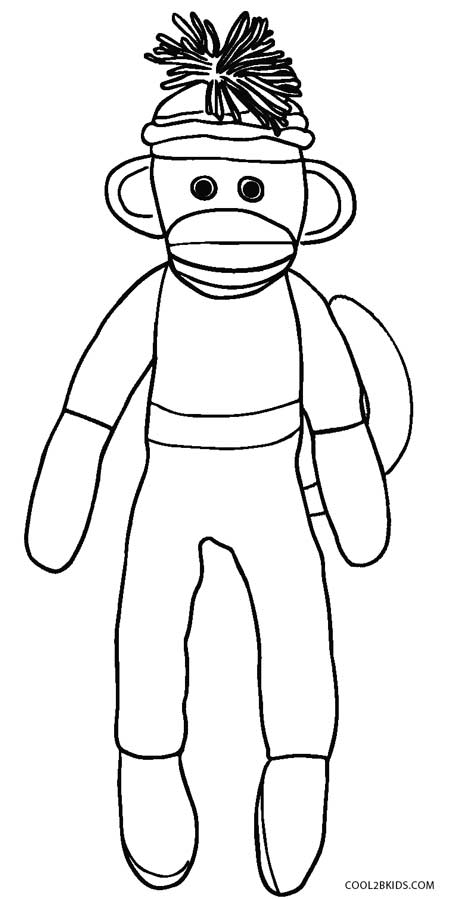 460x900 Sock Monkey Coloring Pages