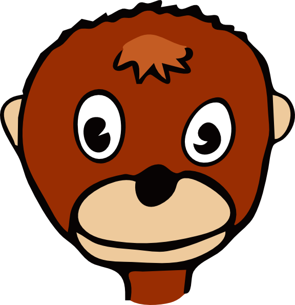 576x595 Cartoon Monkey Face Png, Svg Clip Art For Web