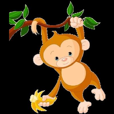 400x400 Cartoon Monkey Clipart