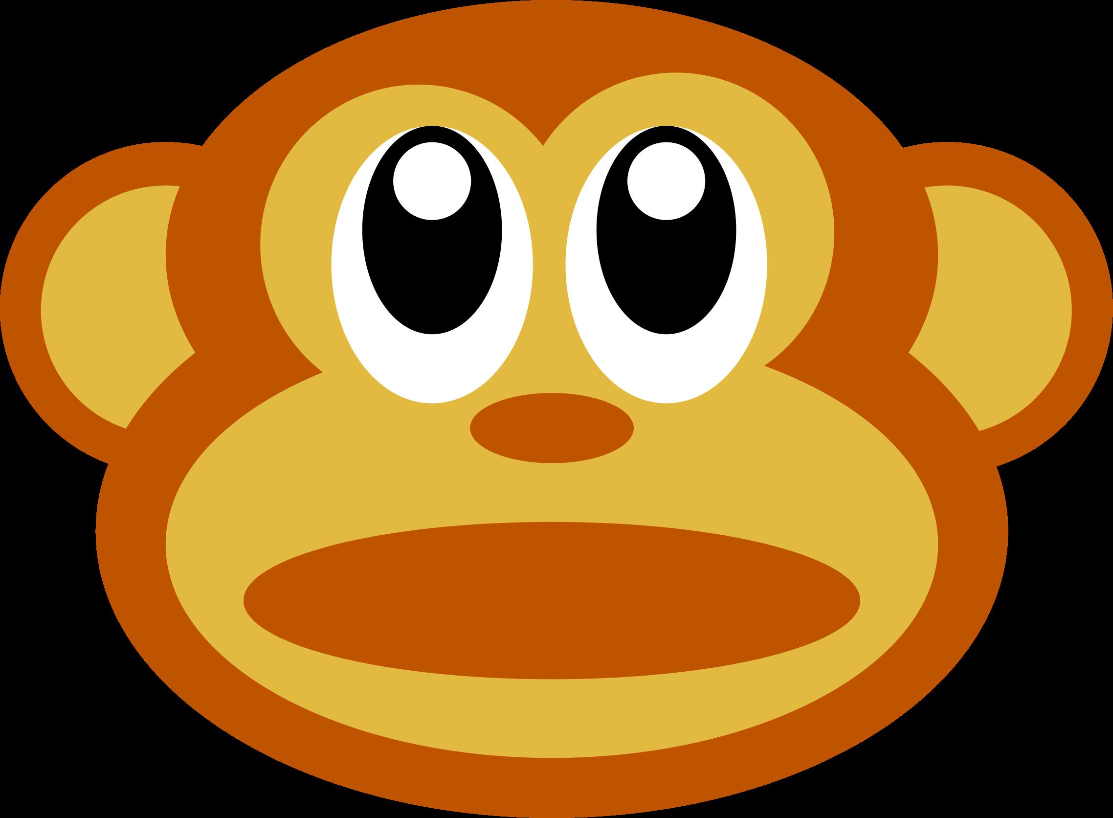 2276x1672 Clipart Monkey Face Clipartfest