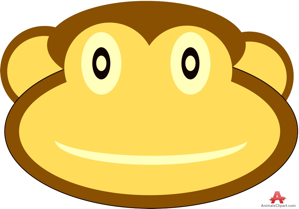 999x697 Clipart Of Monkey Face Free Clipart Design Download