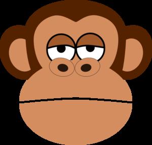 300x285 Monkey Cartoon Face Clip Art
