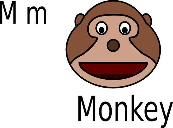564x418 Monkey Face Clip Art