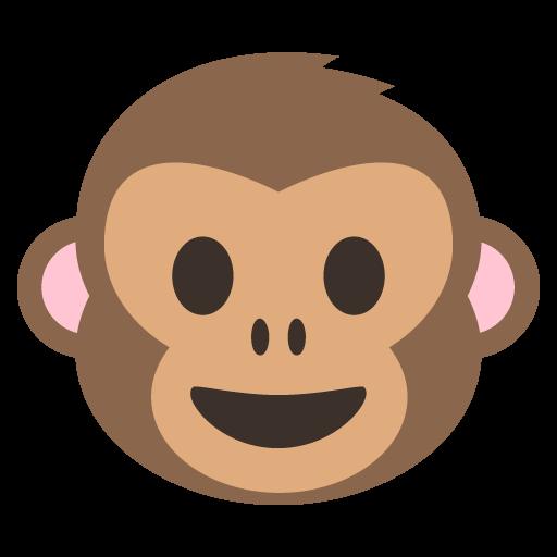 512x512 Monkey Face Emoji Vector Icon