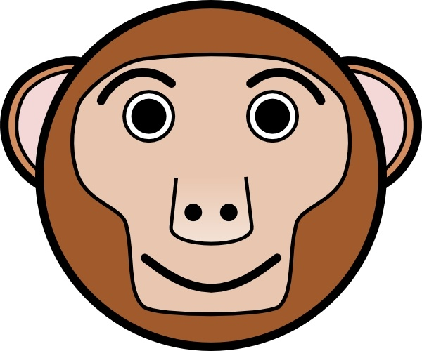 600x500 Monkey Rounded Face Clip Art Free Vector In Open Office Drawing