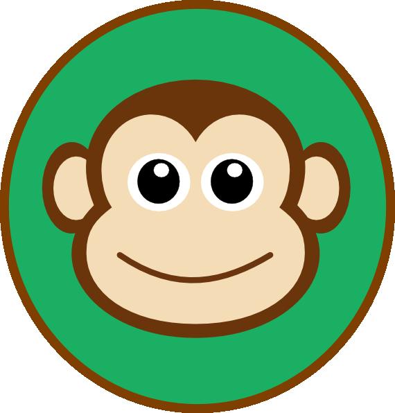 570x596 Monkey Topper Clip Art