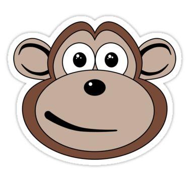 375x360 Monkey Face Applique Ideas Cartoon Clip Art